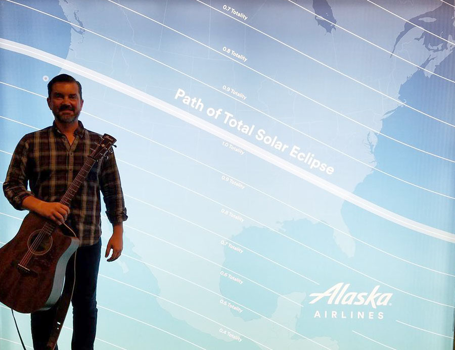 Performing in Portland for Alaska Airlines